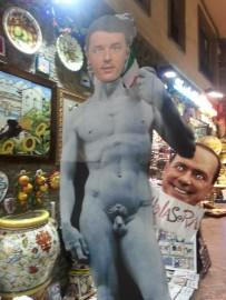 Foto Renzi Berlusconi satira
