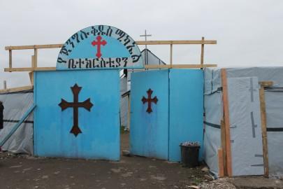 L'ingresso della chiesa nel quartiere eritreo