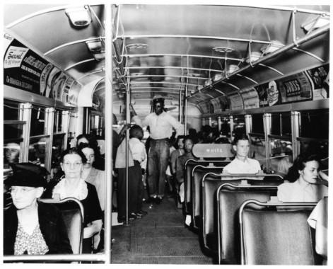 Un autobus durante il periodo della segregazione