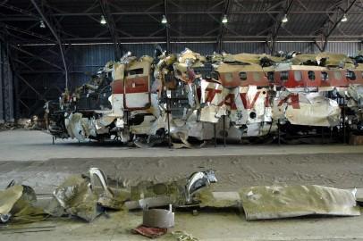 I resti del Dc9 esploso in volo sopra Ustica