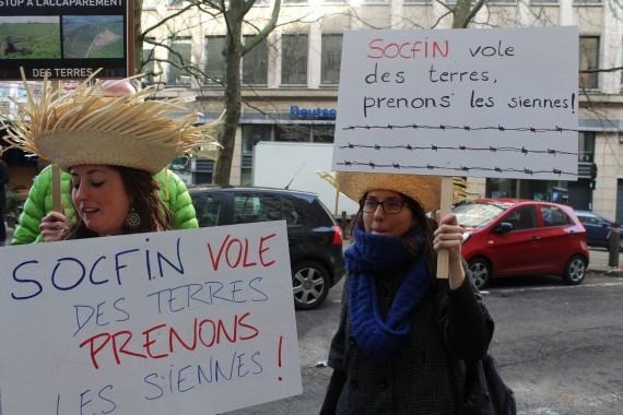 protesta land grabbing socfin