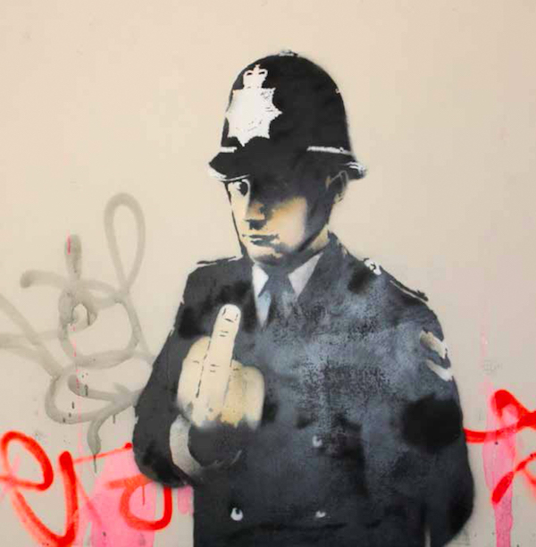 Banksy_2002_Rude-Copper_Paint-on-canvas_121-x-121-cm