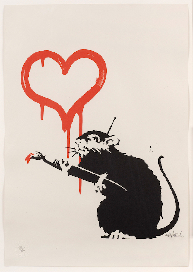 Banksy_2003_Love-Rat_Screenprint_50x35cm