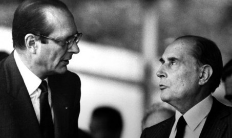 Jacques Chirac e François Mitterrand