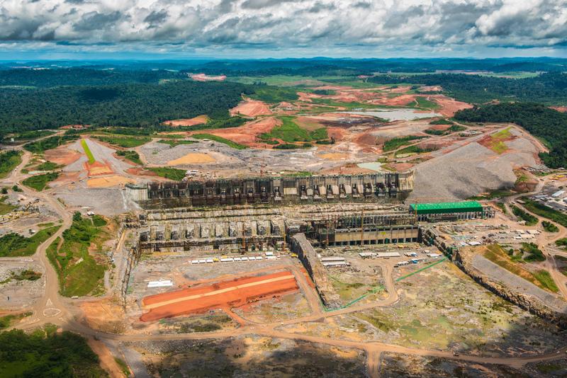 Aerial View of Belo Monte DamImagem aérea da Usina Hidrelétrica de Belo Monte