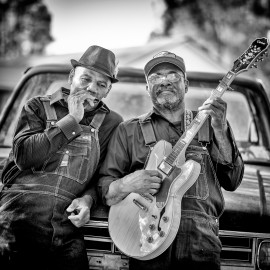 """Jock Webb e Clarence Davis, foto di Roger Stephenson."""
