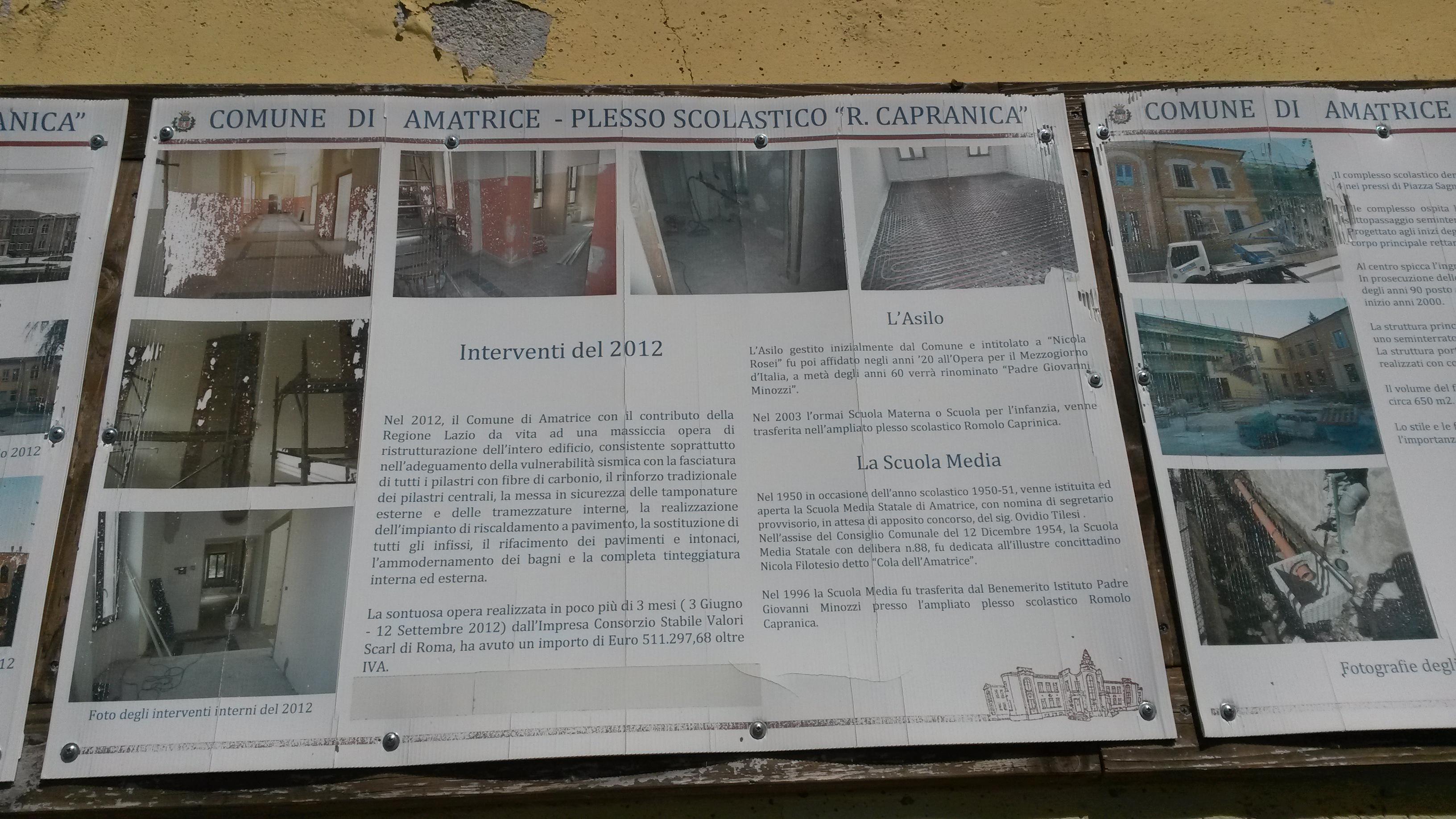 cartello scuola Amatrice