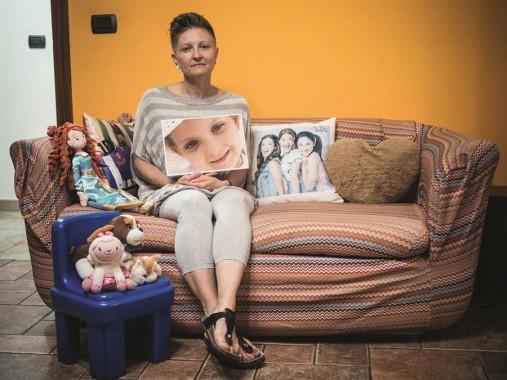 Pina Acerra, detta la Guerriera, con la figlia Tonia