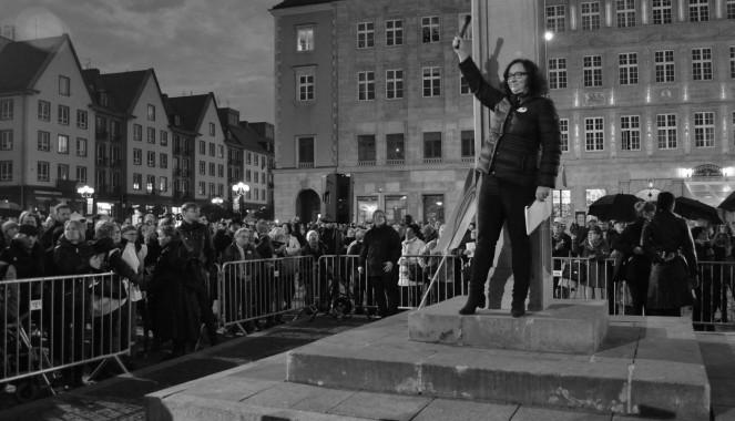 L'ideatrice delle proteste Marta Lempart. Foto di Michał Slońmiński