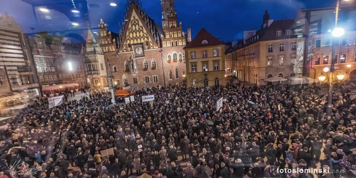 La manifestazione a Wroclaw. Foto di Michał Slońmiński