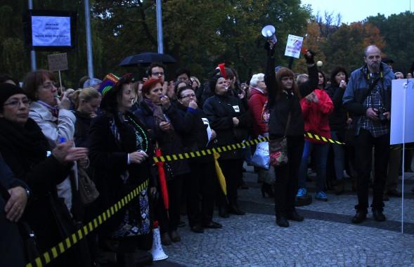 La manifestazione a Poznań. Foto di Ewelina Forodonska