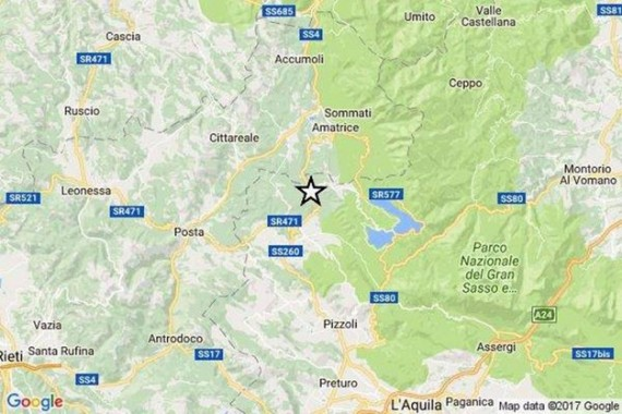 epicentro montereale