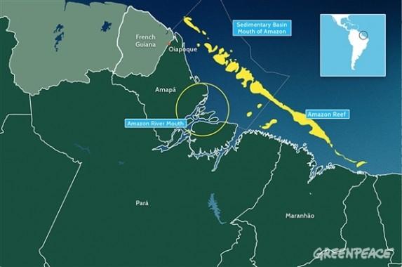 La cartina dell'area dove è stata scoperta la barriera corallina