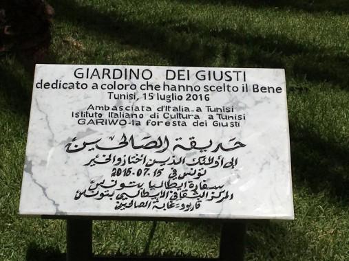 giardino dei giusti targa