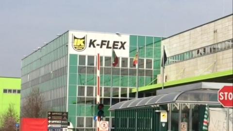 Lo stabilimento K-Flex di Roncello (MB)