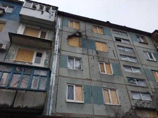 La casa di Sergey, bombardata più volte dall'esercito ucraino