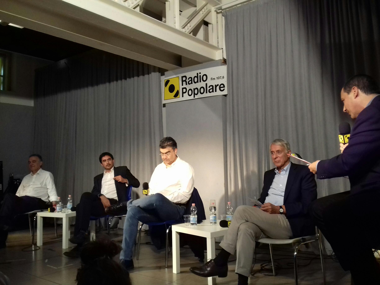 """Incontro dibattito """"Quale futuro per il centrosinistra?"""". Riuscirà Giuliano Pisapia a far rinascere il centrosinistra? Quale rapporto con il PD di Renzi? Ne parliamo con  Enrico Rossi, Nicola Fratoianni, Emanuele Fiano, Giuliano Pisapia."""