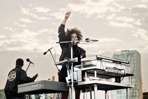 Régine Chassagne degli Arcade Fire (Foto Eric Pamies - Primavera Sound)