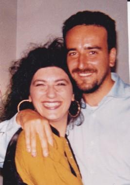 Tina e Antonio Montinaro nel 1990