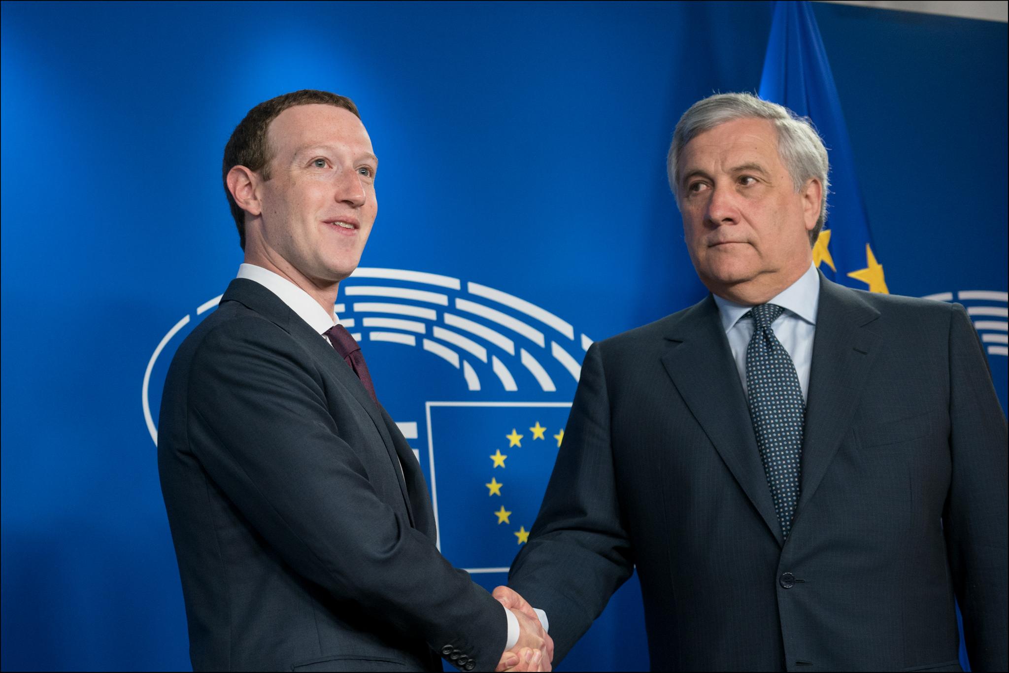 Mark Zuckerberg al Parlamento Europeo