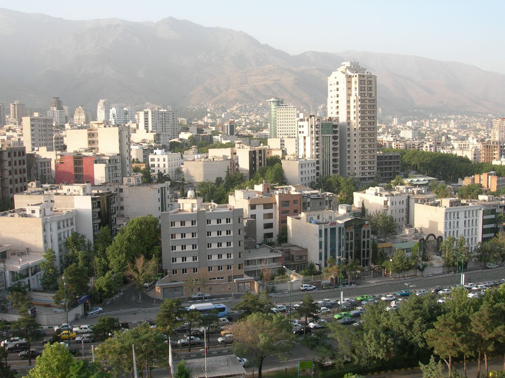Veduta di Teheran, capitale dell'Iran