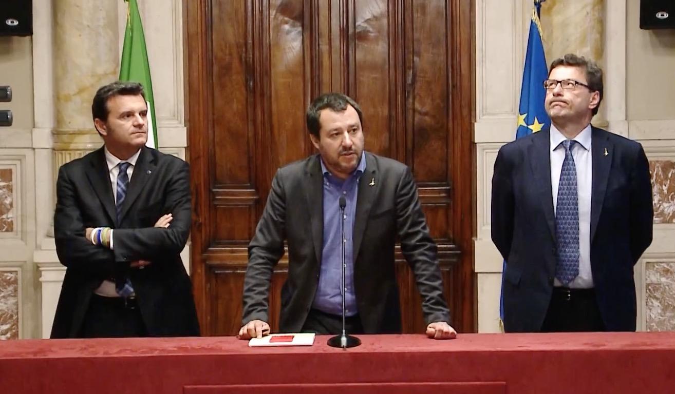 Matteo Salvini a Montecitorio