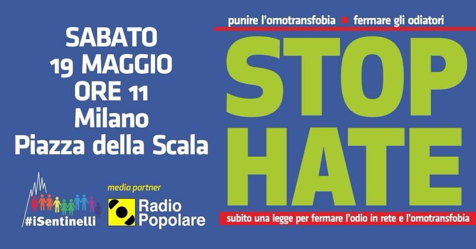 Stop Hate, la manifestazione a Milano