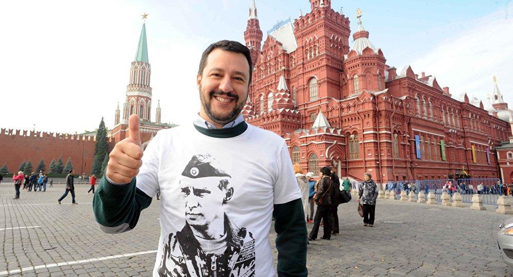Matteo Salvini a Mosca