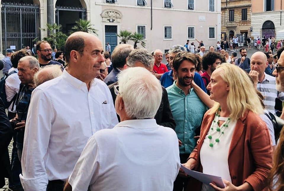 Nicola Zingaretti a Trastevere