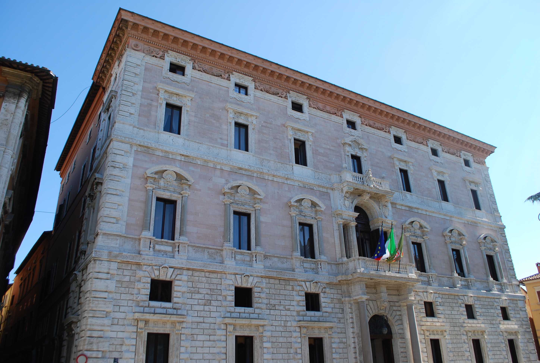 Il palazzo della Regione Umbria