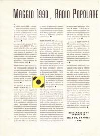 La dichiarazione d'intenti di Radio Popolare del 1990
