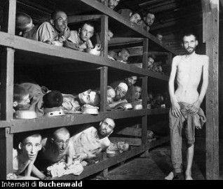 Internati a Buchenwald. Tratto dal sito www.shoah-nakba.it