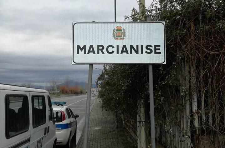 Il cartello all'ingresso di Marcianise