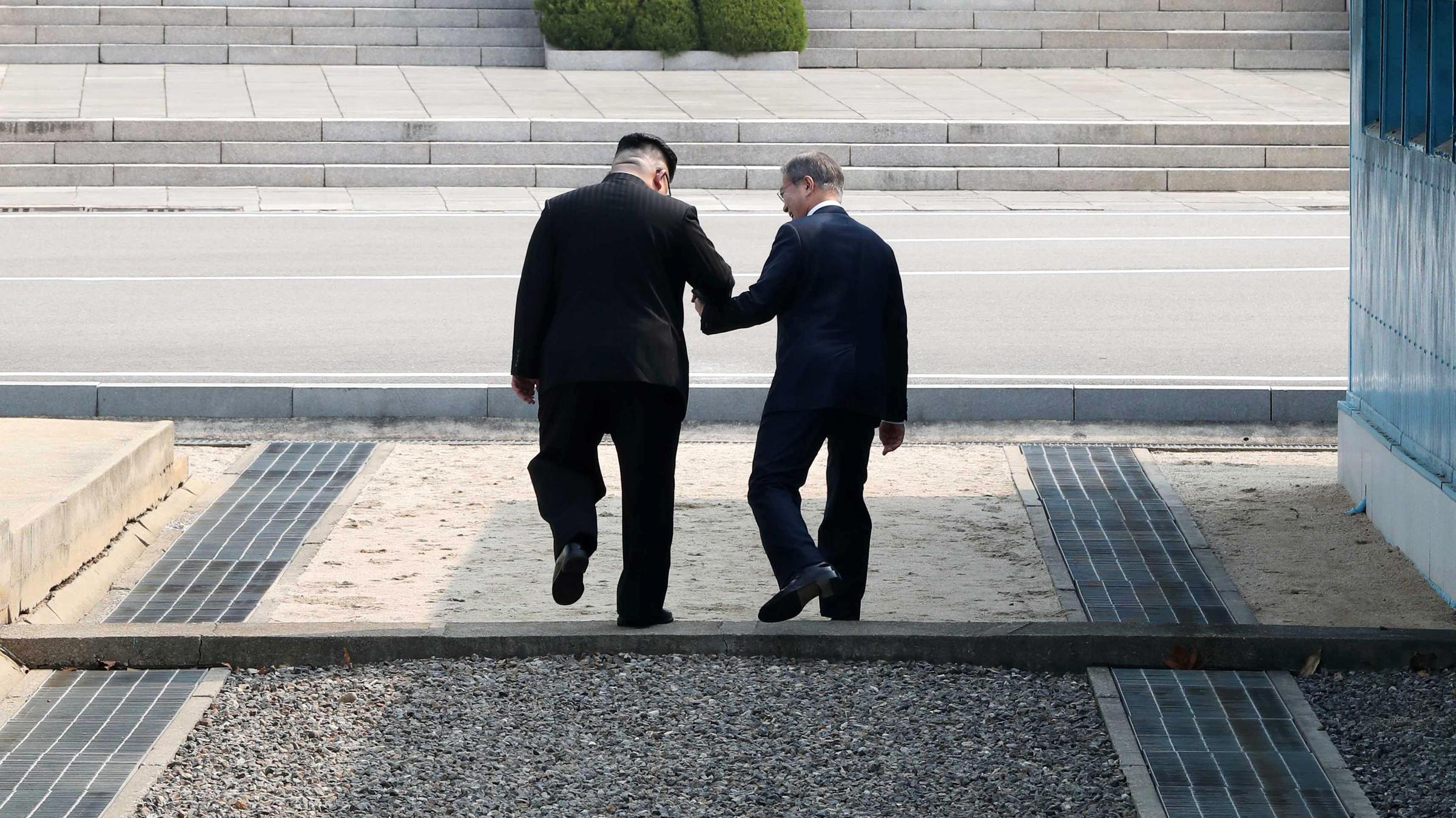 L'incontro tra Moon Jae-in e Kim Jong-un
