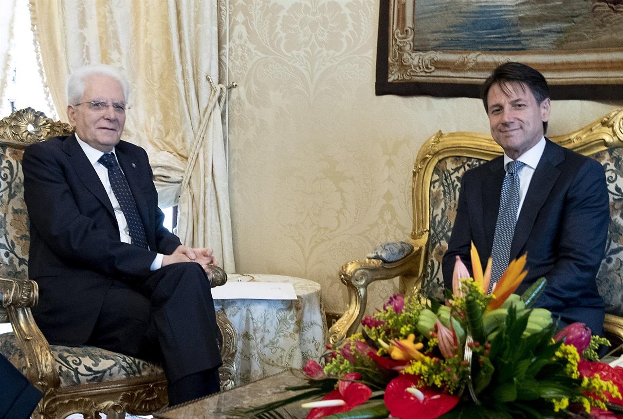 Giuseppe Conte e Mattarella