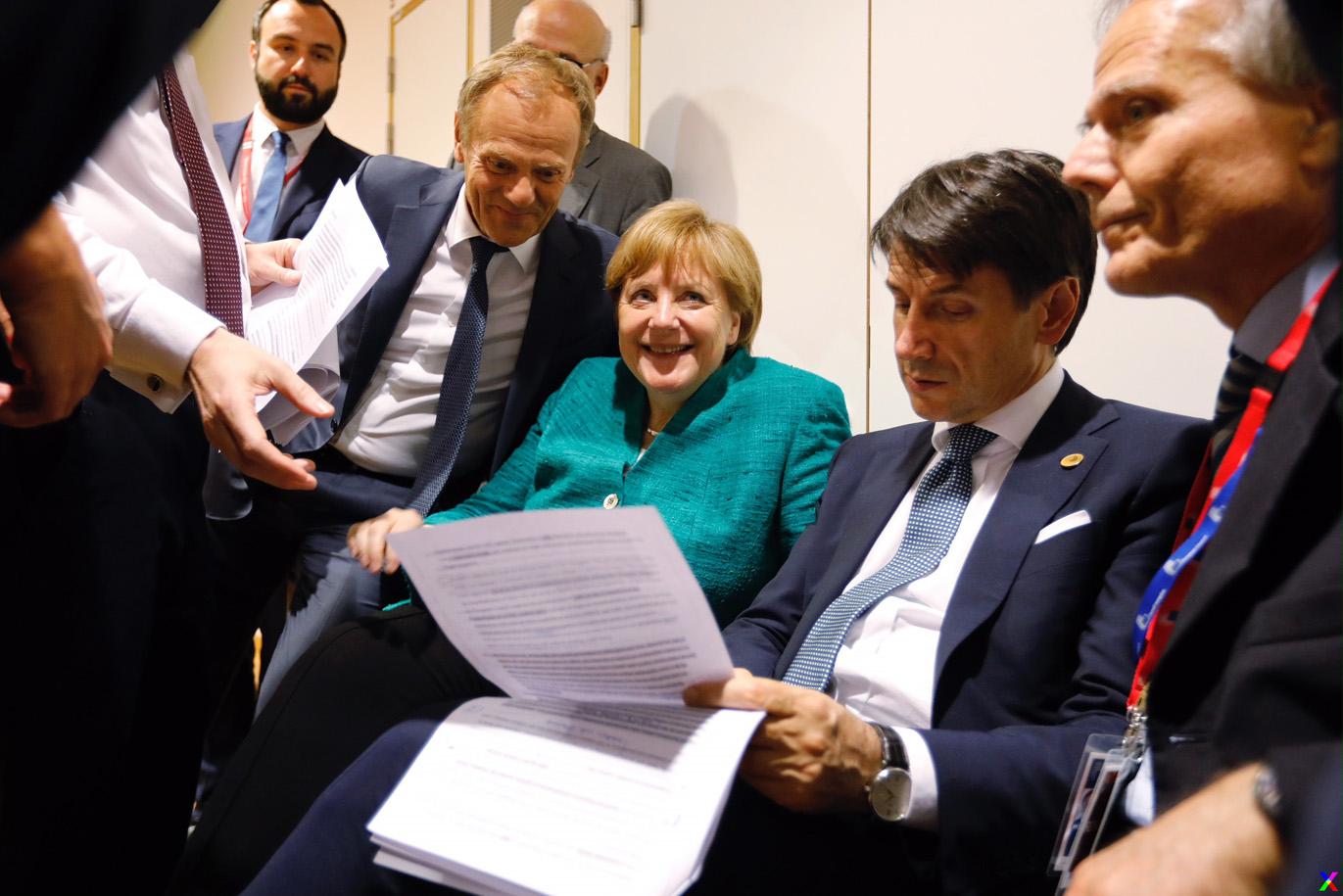 Giuseppe Conte al Consiglio Europeo