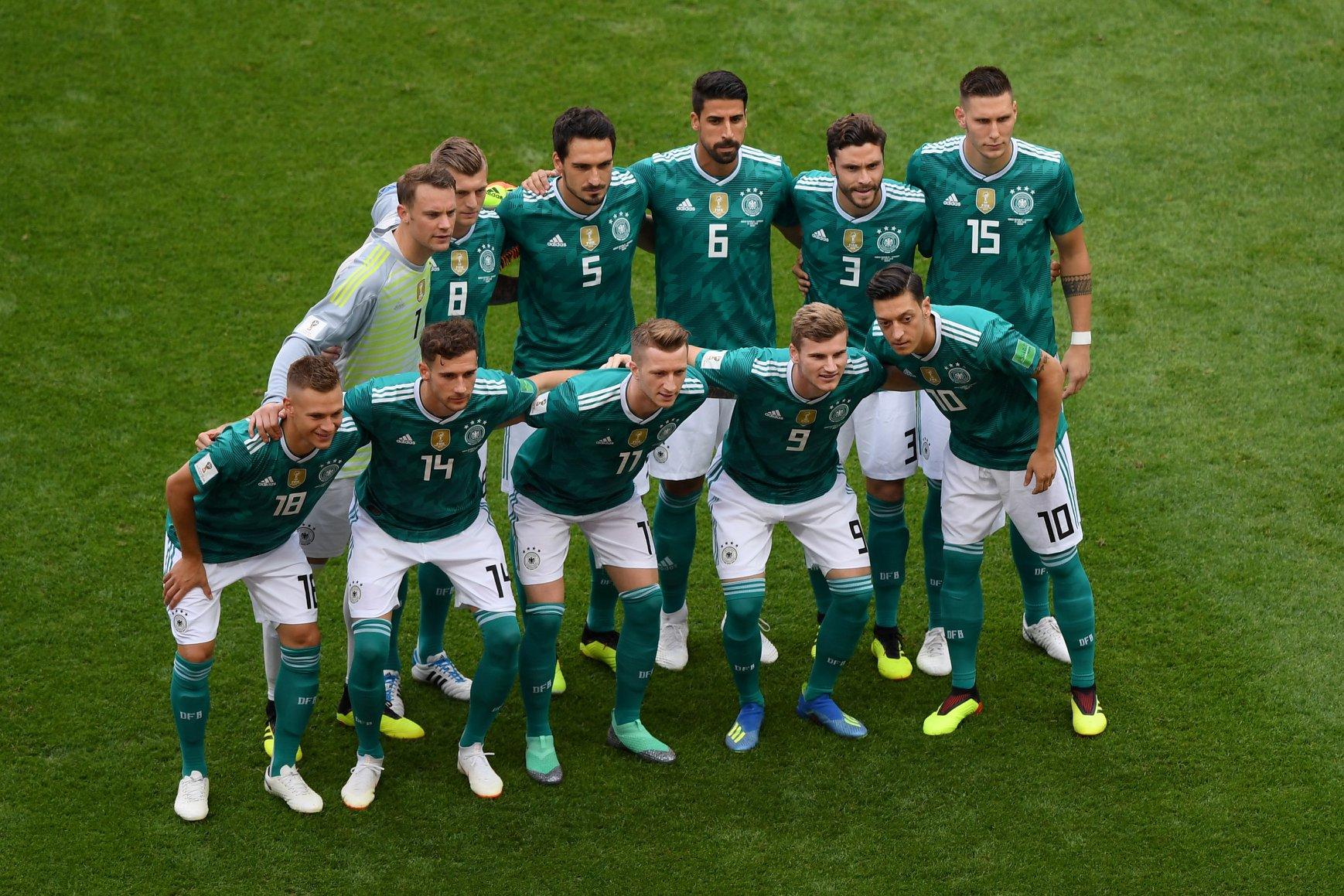 La nazionale tedesca ai Mondiali di Russia 2018