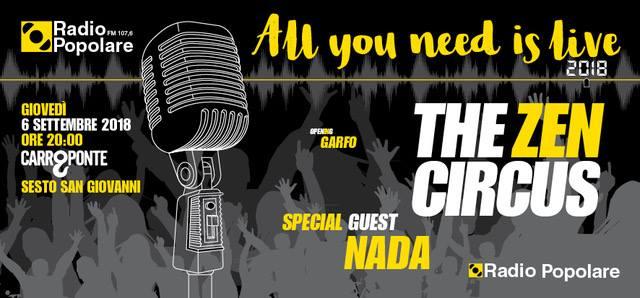 Zen Circus e Nada live per Radio Pop