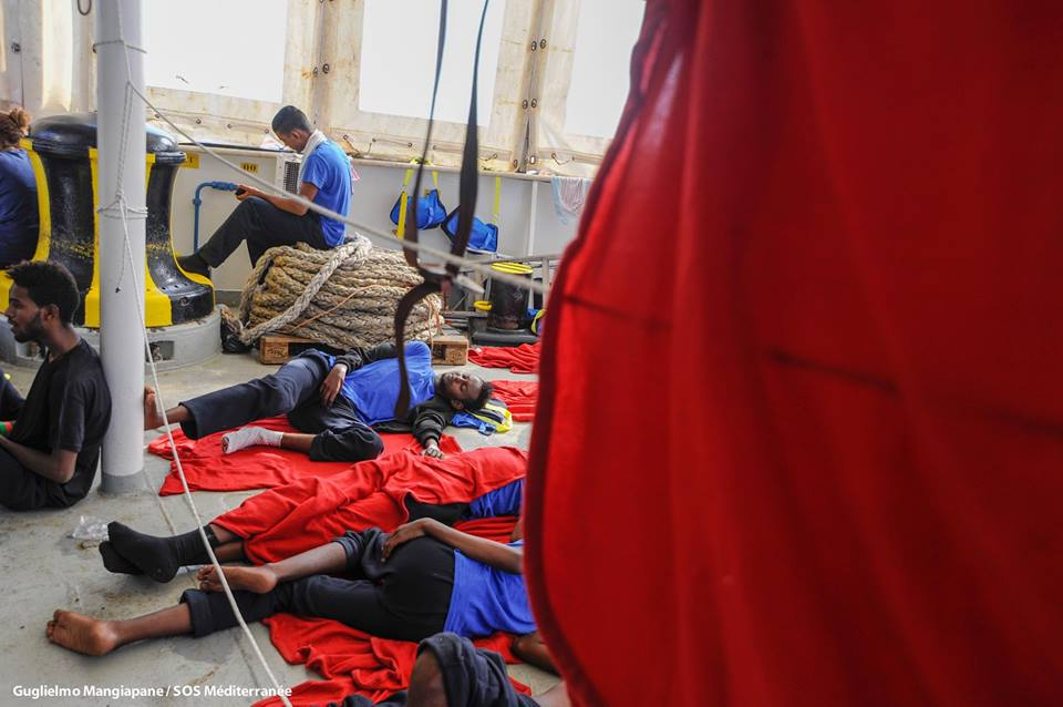 Migranti a bordo dell'Aquarius
