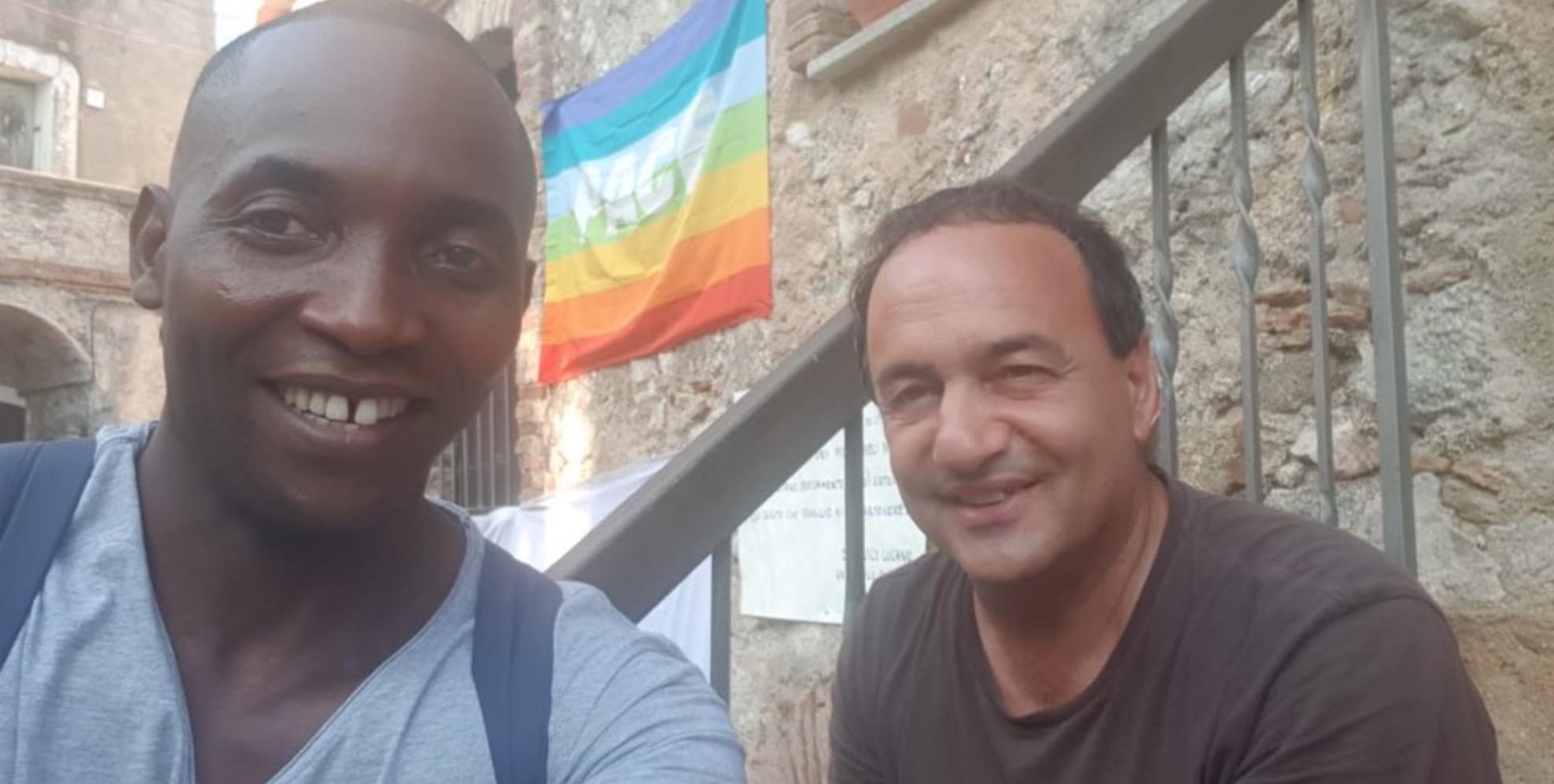 Mimmo Lucano e Aboubakar Soumahoro