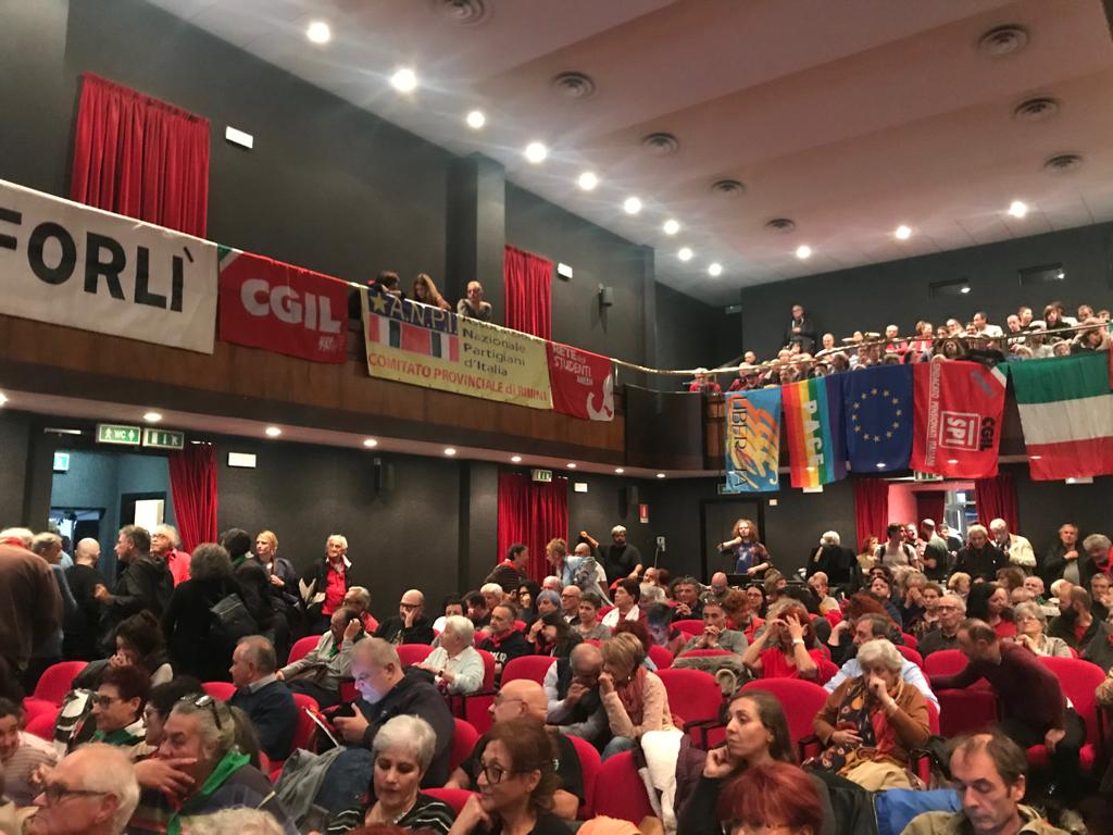Manifestazione antifascista a Predappio
