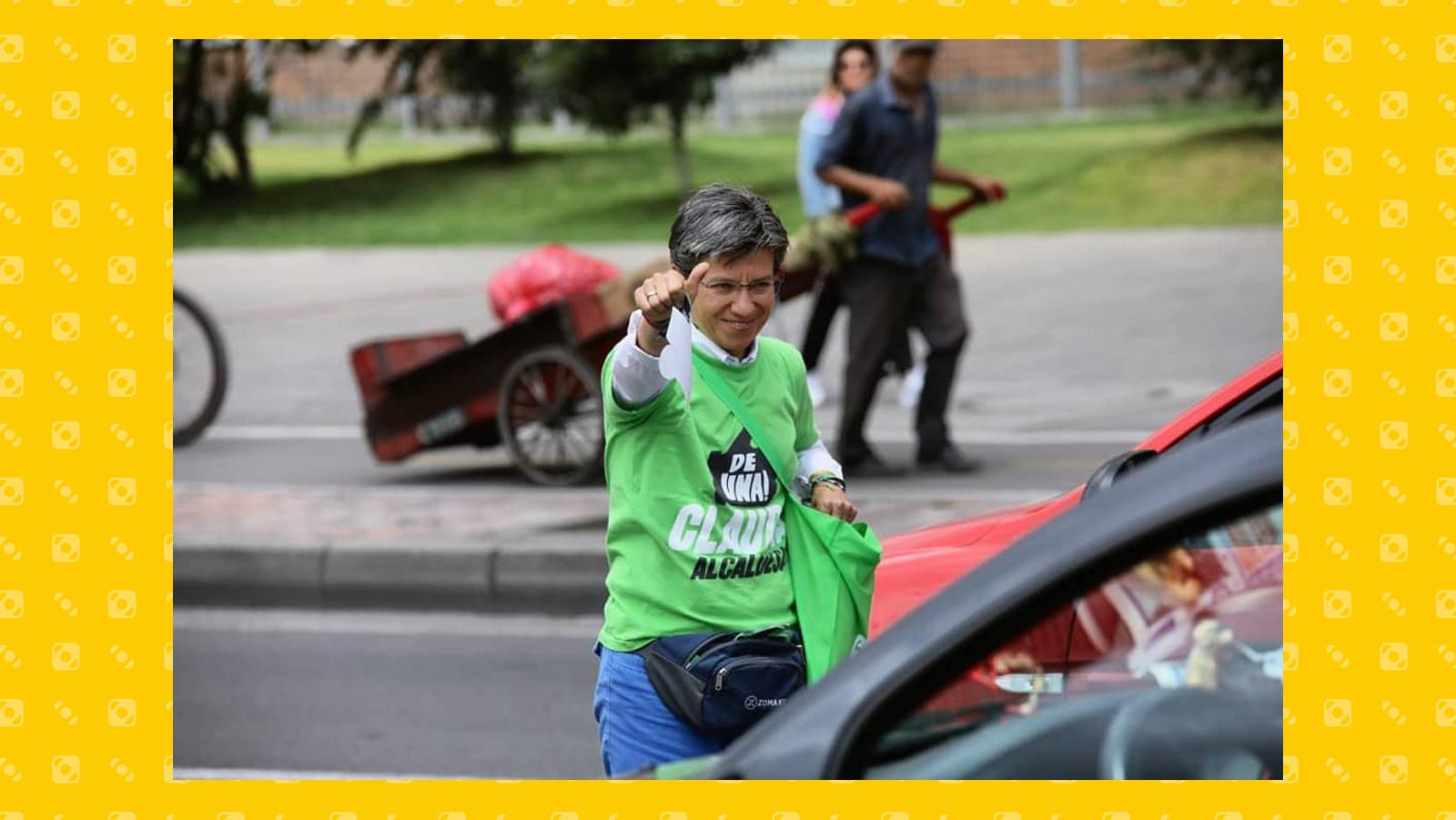 La sindaca di Bogotà Claudia Lopez