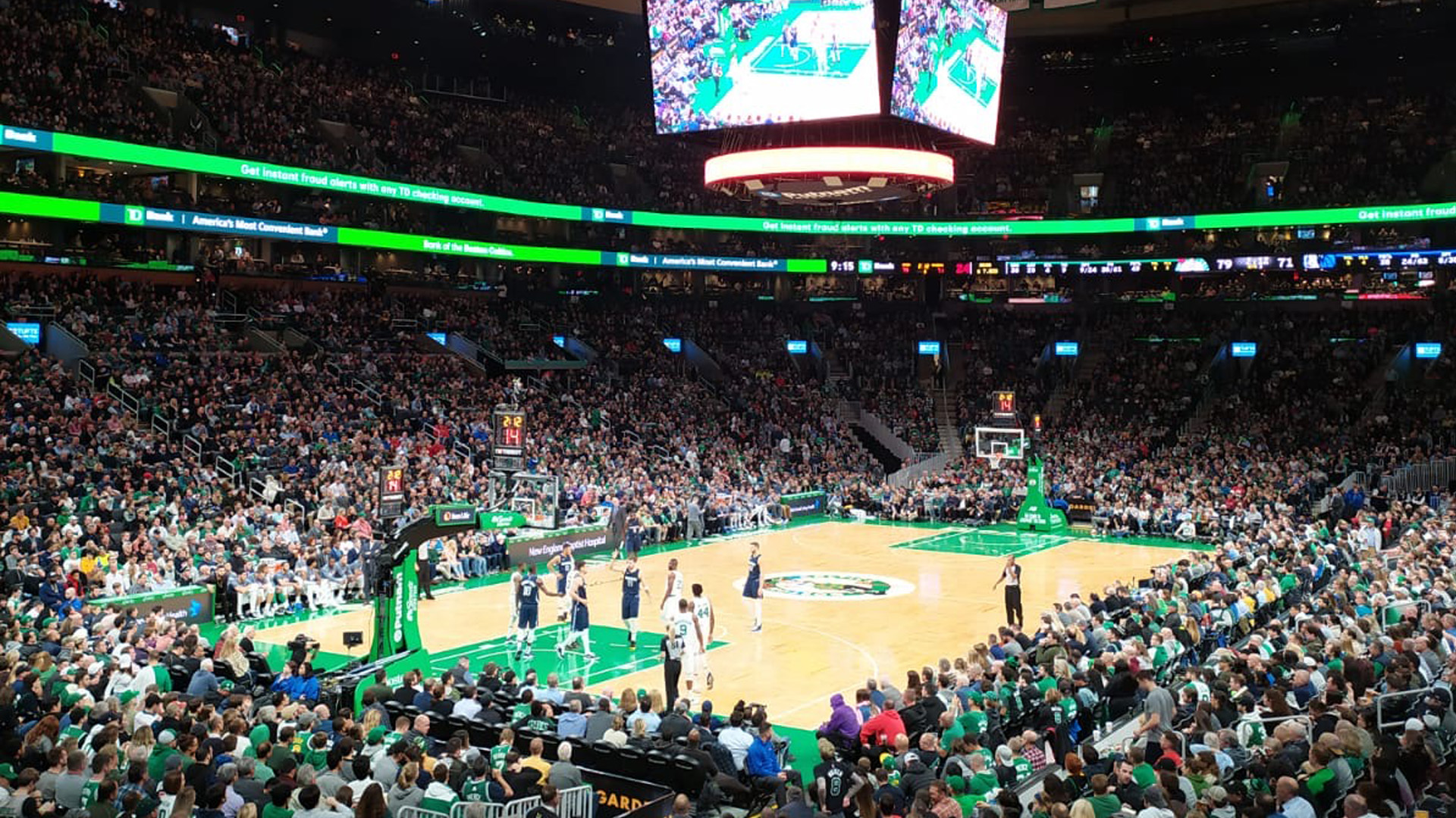 I Boston Celtics al Boston Madison Square Garden