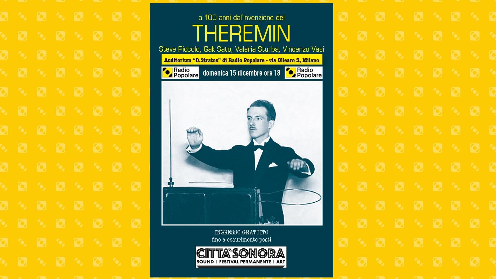 Serata Theremin -  Domenica 15 dicembre ore 18.00 Auditorium Demetrio Stratos
