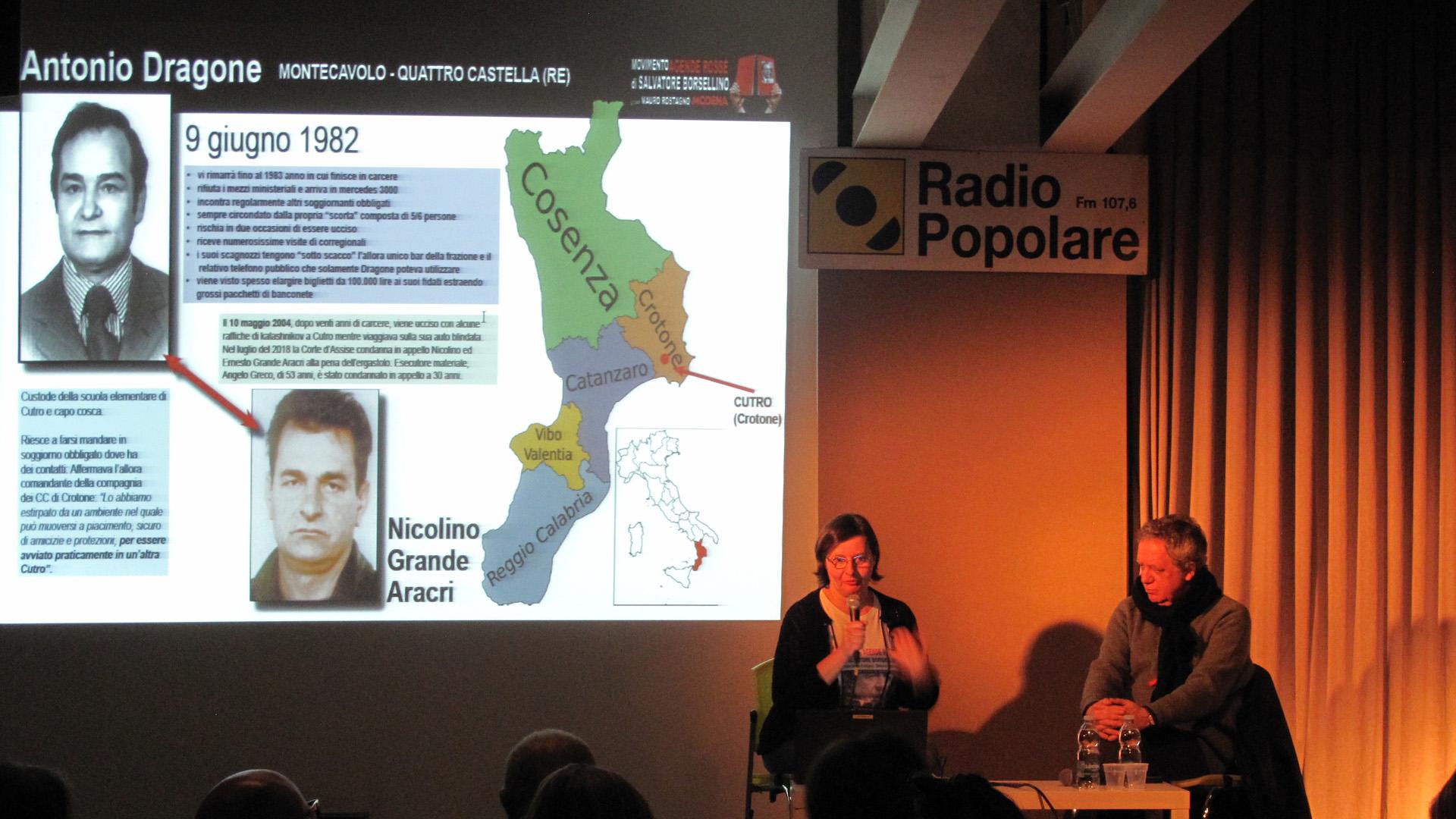 Le lezioni di antimafia di Radio Popolare, 22-1-20: