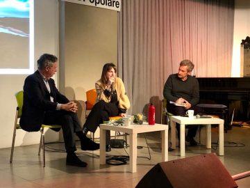 Lezioni antimafia, nell'auditorium di Radio Popolare Viviana Matrangola, Nando dalla Chiesa e Raffaele Liguori