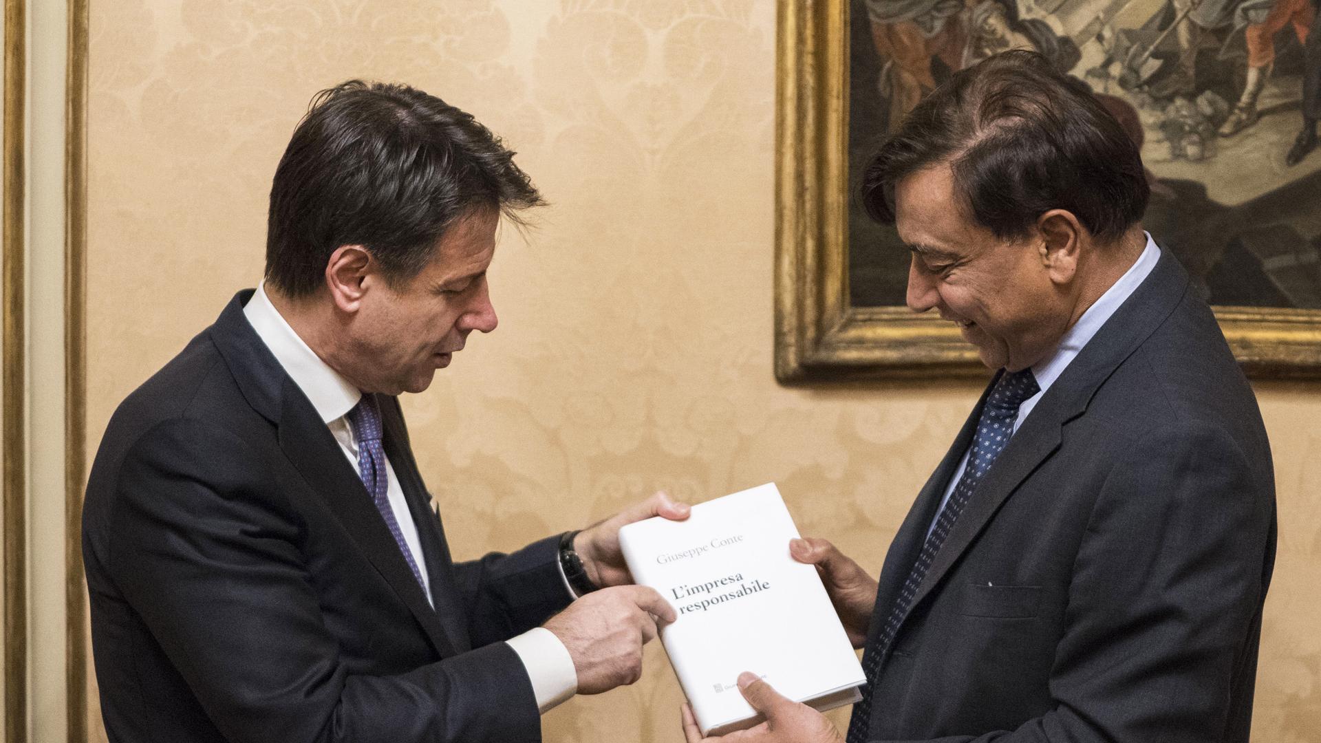 Giuseppe Conte e Lakshmi Mittal