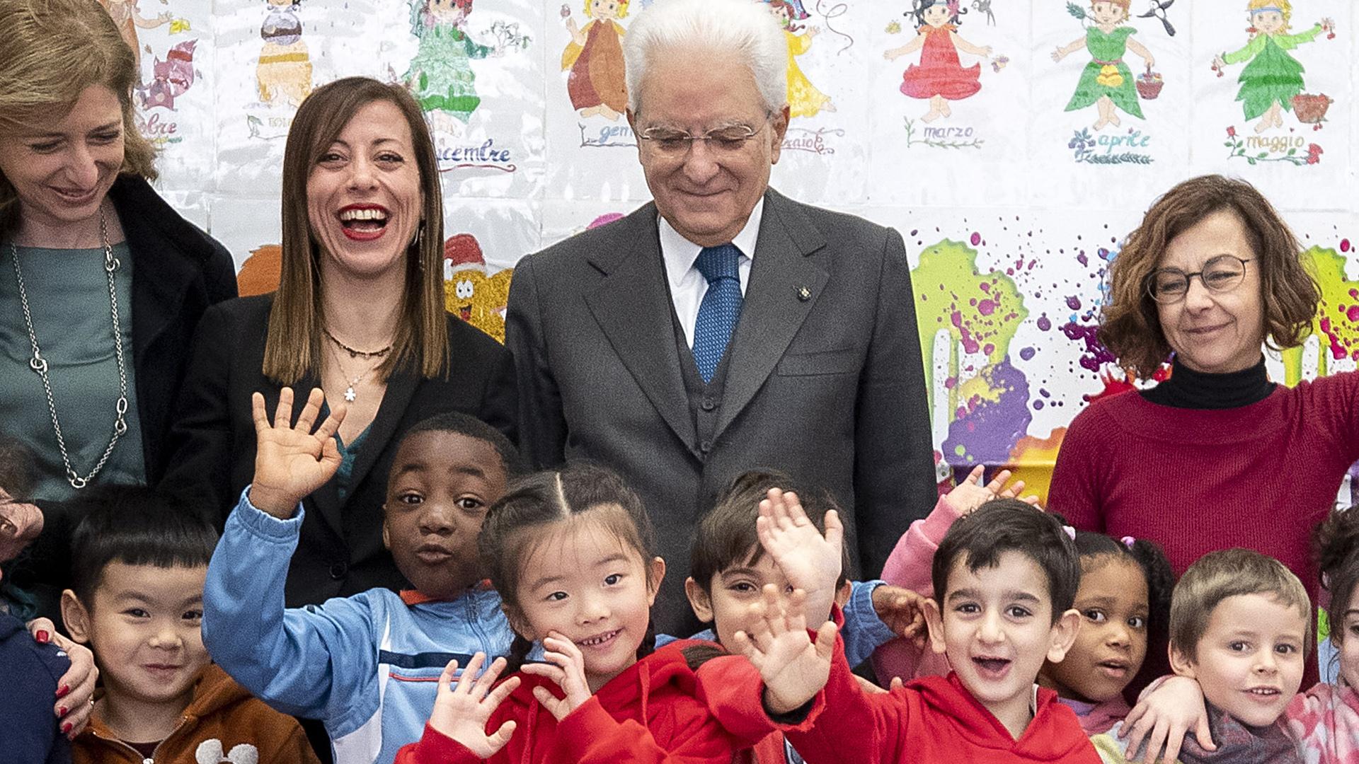 Mattarella visita la scuola D.Manin