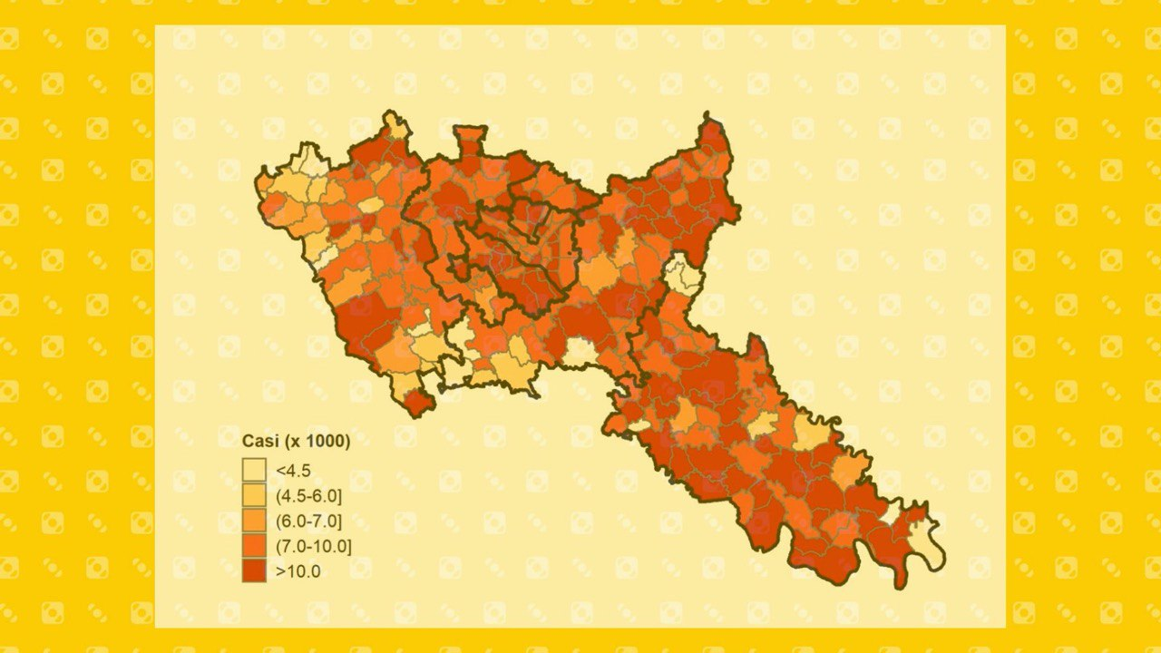 mappa del contagio Milano Lodi
