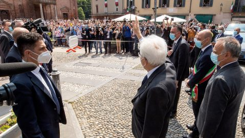 """Mattarella a Codogno: """"Qui si ritrova la Repubblica"""""""